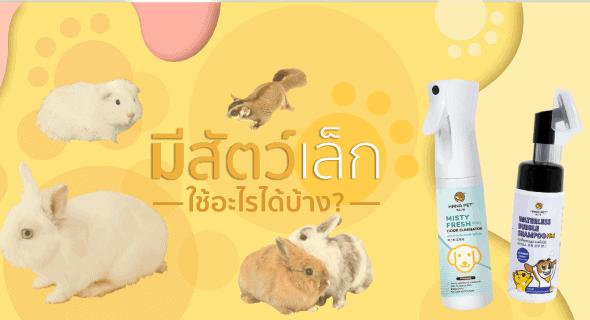 มีสัตว์เล็กสามารถใช้ผลิตภัณฑ์ไหนทำความสะอาดได้บ้าง